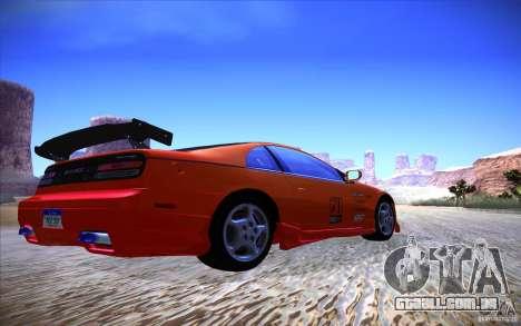 Nissan 300ZX Twin Turbo para GTA San Andreas traseira esquerda vista