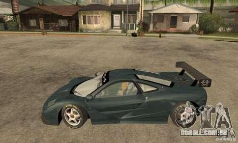 Mclaren F1 LM (v1.0.0) para GTA San Andreas esquerda vista