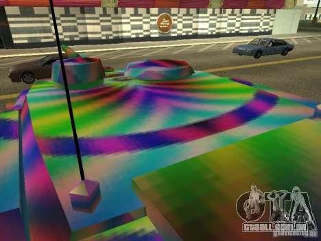 Um tanque de cor alegre para GTA San Andreas vista traseira