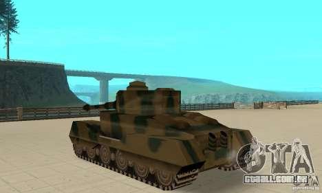 Tanque Tiger-RL para GTA San Andreas traseira esquerda vista