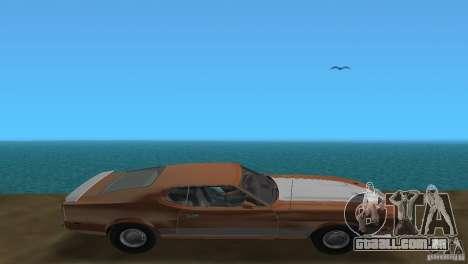Ford Mustang 1973 para GTA Vice City vista traseira