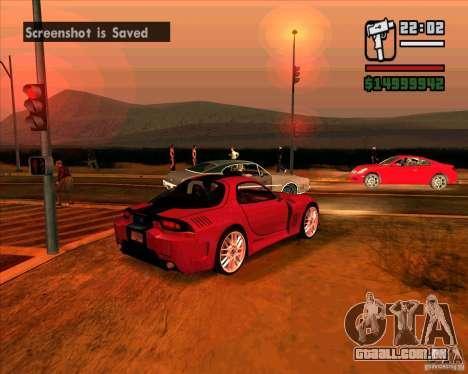 Mazda RX-7 MW para GTA San Andreas traseira esquerda vista