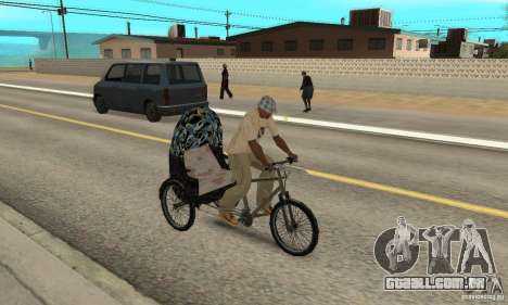 Manual Rickshaw v2 Skin3 para GTA San Andreas vista direita