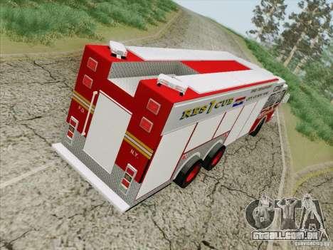 E-One F.D.N.Y Fire Rescue 1 para GTA San Andreas vista interior