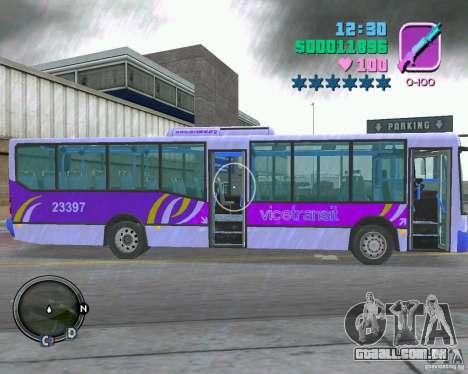 Marcopolo Bus para GTA Vice City vista traseira