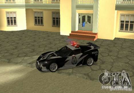 Chevrolet Cross Corvette C6 para GTA San Andreas esquerda vista