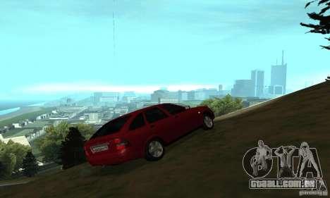 Lada Priora Hatchback para GTA San Andreas vista traseira