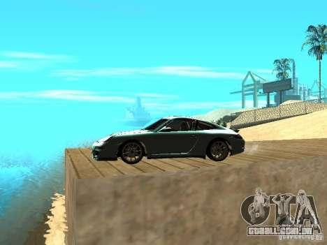 Porsche 997 GT3 RS para GTA San Andreas esquerda vista