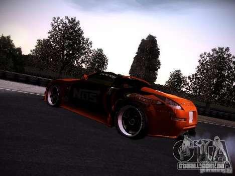 Nissan 370Z Chris Forsberg para GTA San Andreas traseira esquerda vista