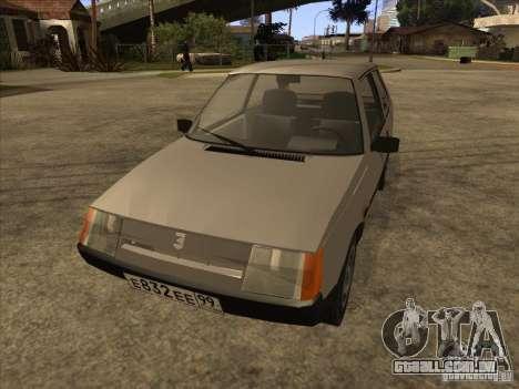 ZAZ Tavria 1102 para GTA San Andreas vista traseira