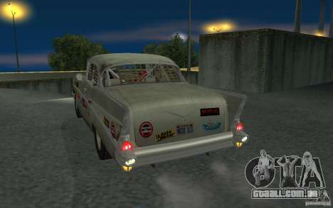 Chevrolet BelAir Bloodring Banger 1957 para GTA San Andreas vista direita