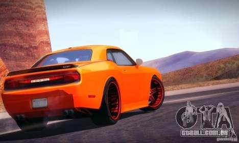 Dodge Quinton Rampage Jackson Challenger SRT8 v1 para GTA San Andreas traseira esquerda vista