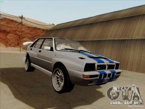 Lancia Integrale Evo para GTA San Andreas vista traseira