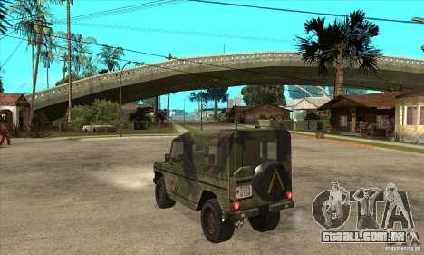 Mercedes Wolf para GTA San Andreas traseira esquerda vista