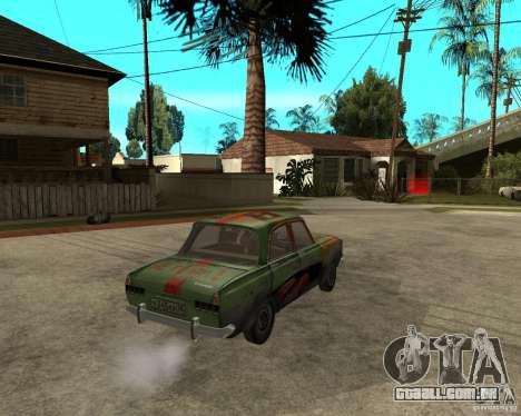 Bloodring Moskvich 412 para GTA San Andreas traseira esquerda vista