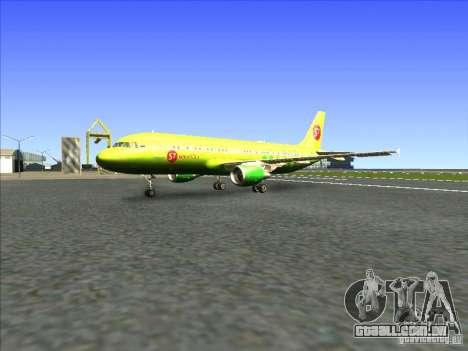 Airbus A-320 S7Airlines para GTA San Andreas esquerda vista