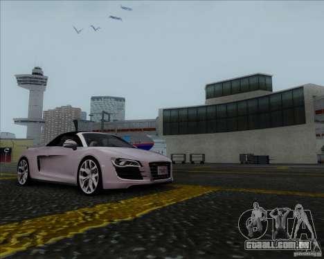 Audi R8 Spyder para GTA San Andreas esquerda vista