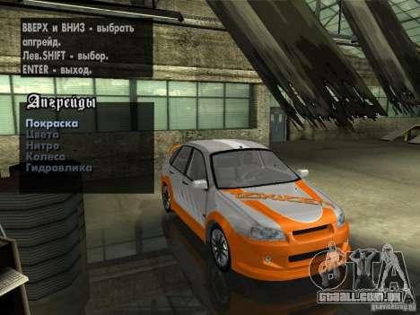 Lada Kalina Sport Tuning para vista lateral GTA San Andreas