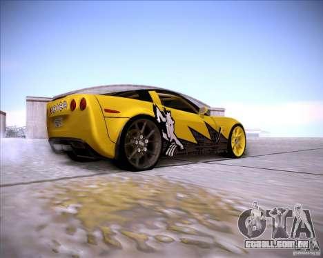 Chevrolet Corvette C6 super promotion para GTA San Andreas vista direita