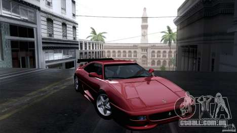 Ferrari F355 Challenge 1995 para GTA San Andreas vista traseira