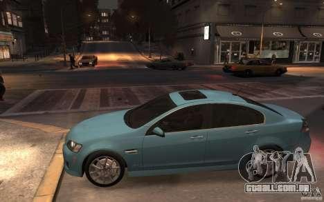 Pontiac G8 GXP para GTA 4 esquerda vista