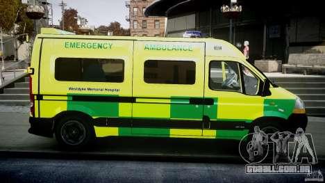 Renault Master 2007 Ambulance Scottish [ELS] para GTA 4 vista interior
