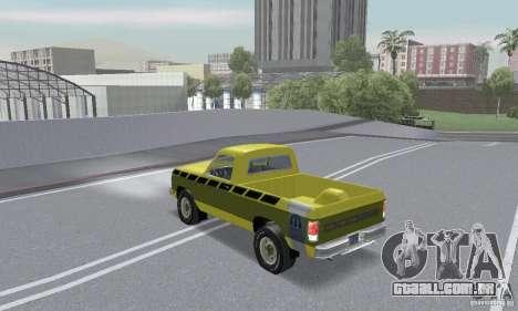 Dodge Prospector 1984 para vista lateral GTA San Andreas