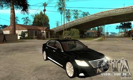 Lexus LS460L 2010 para GTA San Andreas vista traseira