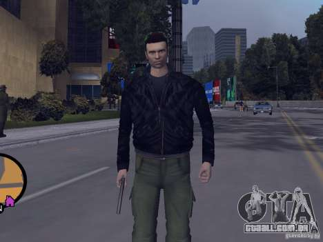 Claude HD from GTA III para GTA Vice City