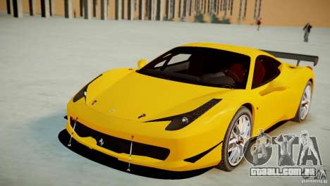 Ferrari 458 Challenge 2011 para GTA 4 vista direita