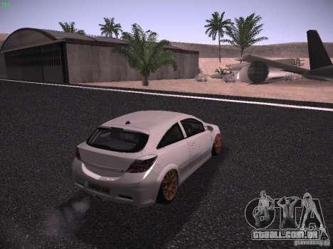 Vauxhall Astra VXR Tuned para GTA San Andreas esquerda vista