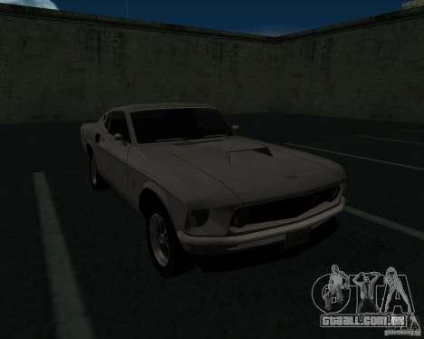 Ford Mustang Boss 1969 para GTA San Andreas vista interior