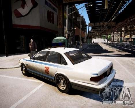 Russian Police Cruiser para GTA 4 esquerda vista