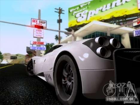 Pagani Huayra 2011 para GTA San Andreas vista traseira