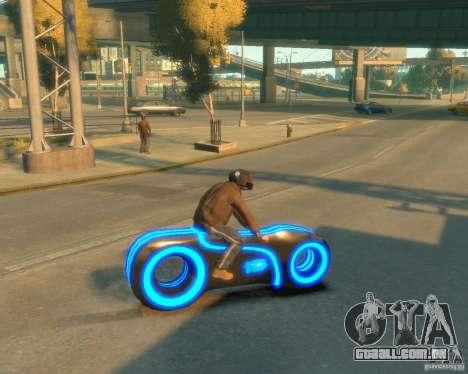 Motocicleta do trono (néon azul) para GTA 4 esquerda vista