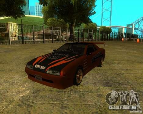 Pak vinis para padrão Elegy para GTA San Andreas traseira esquerda vista