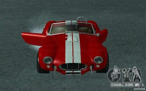 Shelby Cobra 427 para GTA San Andreas vista traseira