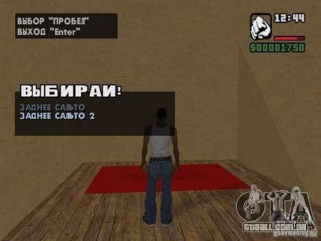 Training and Charging 2 para GTA San Andreas quinto tela