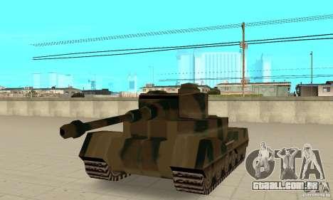 Tanque Tiger-RL para GTA San Andreas