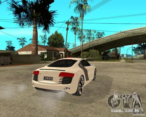 Audi R8 light tunable para GTA San Andreas traseira esquerda vista