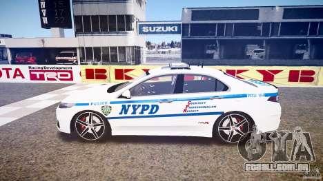 Honda Accord Type R NYPD (City Patro 1950l) ELS para GTA 4 esquerda vista