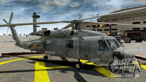 O helicóptero Sikorsky SH-60 Seahawk para GTA 4 vista de volta