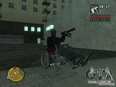 Cadeira de rodas manual para GTA San Andreas vista direita