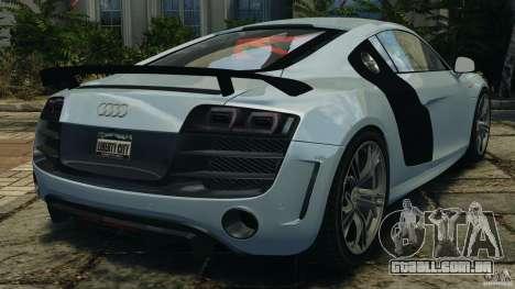 Audi R8 GT 2012 para GTA 4 traseira esquerda vista