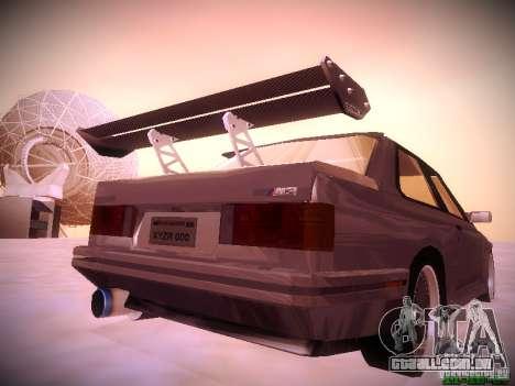 BMW M3 Drift para GTA San Andreas vista traseira
