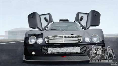 Mercedes-Benz CLK GTR Race Car para GTA San Andreas traseira esquerda vista