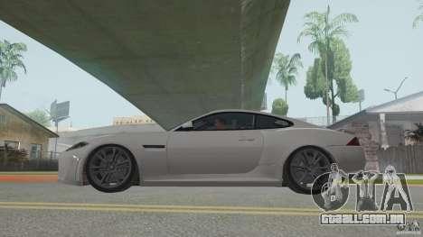 Jaguar XKR-S para GTA San Andreas traseira esquerda vista