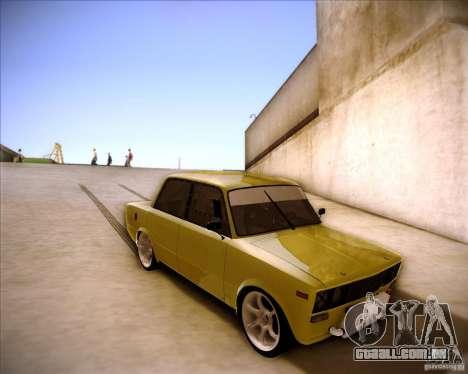 Drift VAZ 2106 para GTA San Andreas vista interior