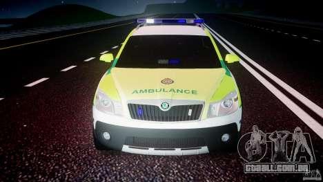 Skoda Octavia Scout Paramedic [ELS] para GTA 4 vista inferior