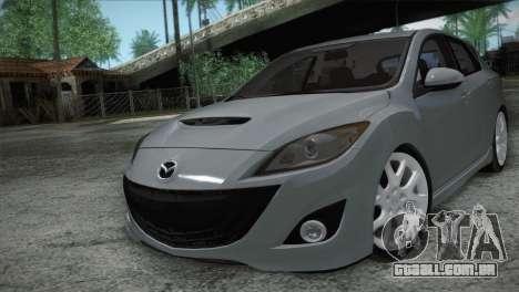 Mazda Mazdaspeed3 2010 para GTA San Andreas vista interior